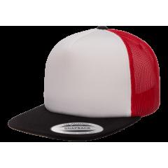 Кепка FlexFit 6005FW NO FOAM Trucker Black/White/Red